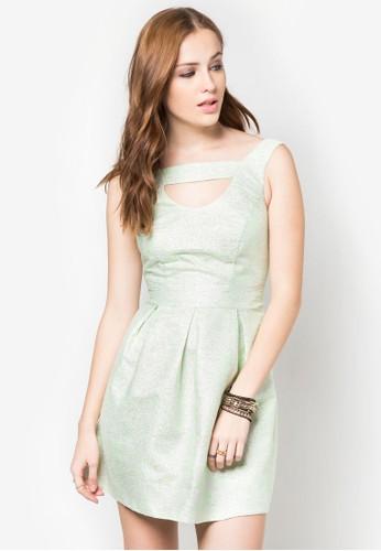混線無袖連身裙, esprit高雄門市服飾, 短洋裝