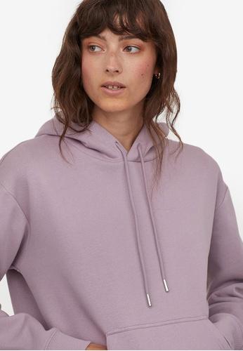 H&M purple Hooded top C16ACAA2EC096EGS_1