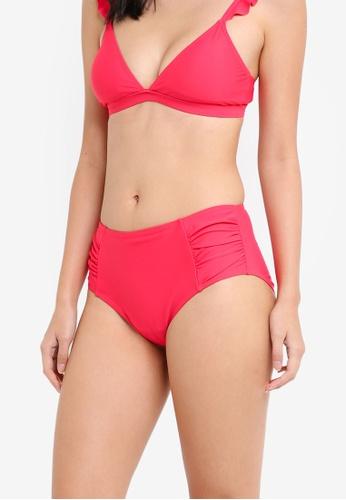 Dorothy Perkins pink Pink Plain High Waist Brief Bikini Bottoms 1703AUS3A29D66GS_1