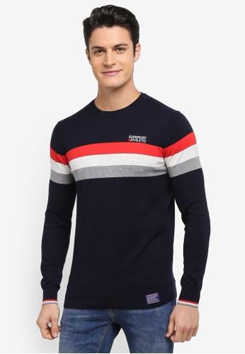 Superdry navy Athletic Tour Crew Sweatshirt 8980EAA2846AC0GS_1