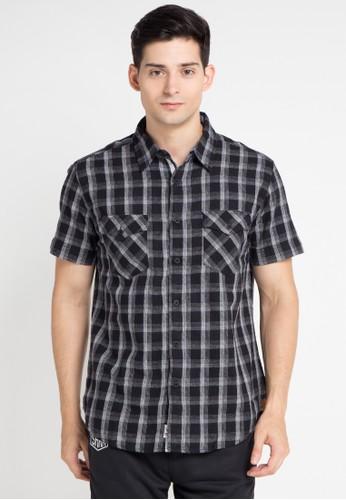 SHARKS black Checked Short-Sleeve Shirt SH473AA0WP10ID_1