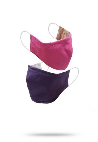 Etoile D'Elfas Stylish Cotton Face Mask Reusable M-123 Pink 3 Pcs 85F9AES7640C6FGS_1
