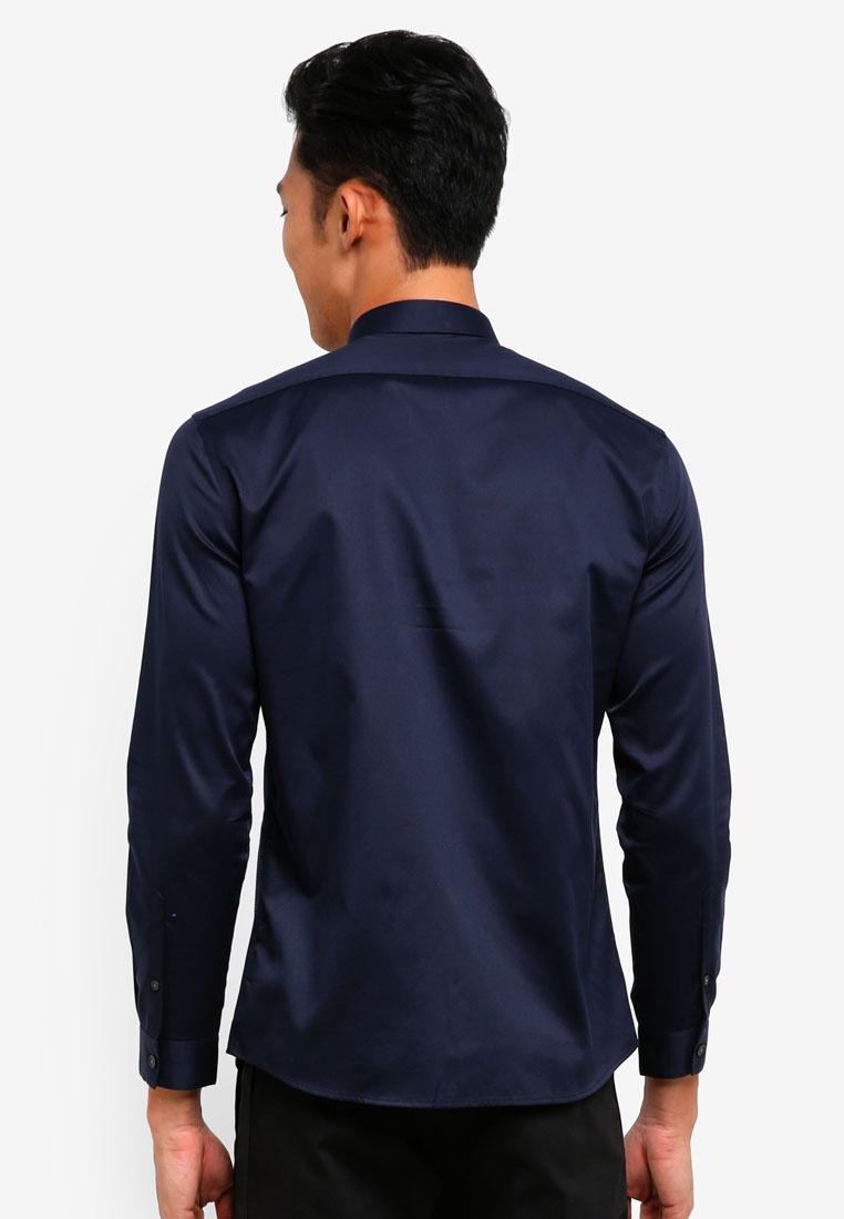 AT TWENTY navy Shirt Double Dobby Collar aqFatf
