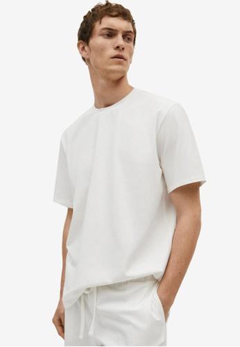 MANGO Man white Cotton Pyjama T-Shirt 51052AA3B956E3GS_1