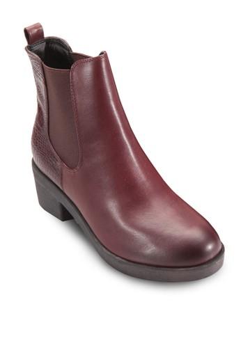 側彈性帶粗跟切爾西短靴, esprit outlet 台灣女鞋, 鞋