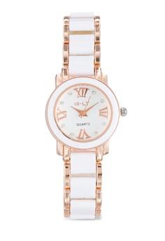 雙色陶瓷錶帶圓錶