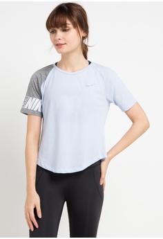 ca699e397d868 Nike blue As Women s Nike Miler Short Sleeves Sd Top 3DB86AA952DC4FGS 1