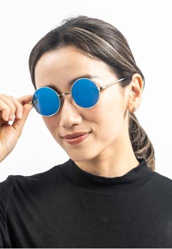2i's to eyes blue Sunglasses Polarized│Vintage Round│Blue Lens│UV400 Protection│2is OriB 59B20GL0E73BD3GS_1