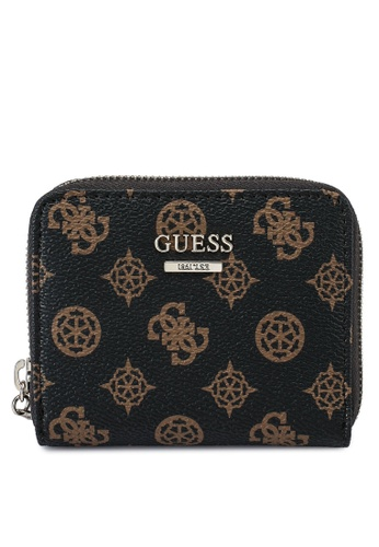 Guess brown Sandrine Sling Small Zip Around Wallet BFB30ACD6B22B4GS_1