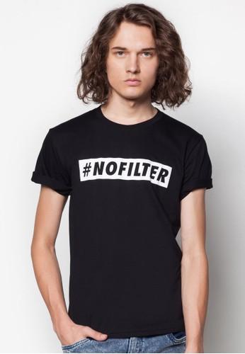 #NO FILTesprit hk outletER 文字印花T 恤, 服飾, 服飾