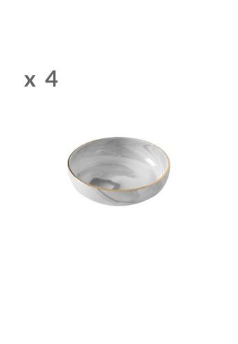 DILAS HOME 4x Gold x Marble Effect Sauce Dish 382FFHL43D203DGS_1