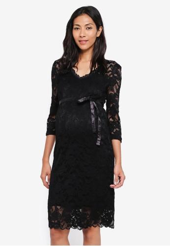 Mama.licious black Maternity Mivana 3/4 Jersey Dress 23E70AA51184BBGS_1