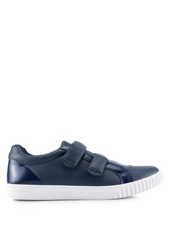 ZALORA navy Mixed Material Velcro Sneakers 11437SH0C65D51GS_1