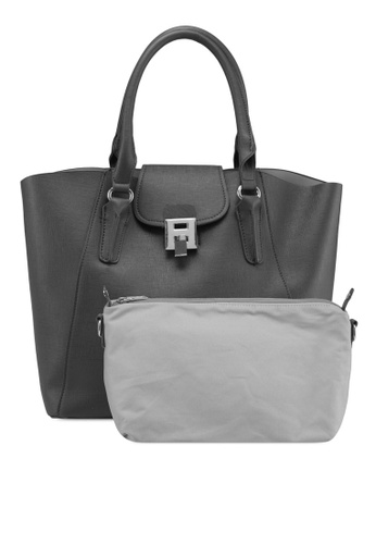 Perllini&Mel grey Faux Leather Bag-In-Bag Tote 03FBAAC93BAA07GS_1