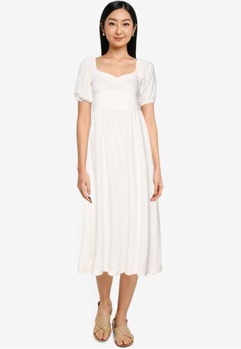 Springfield beige Sustainable Linen Midi Dress 9CAD3AACE8513DGS_1