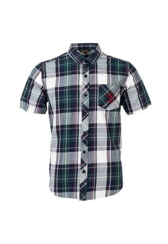 Santa Barbara Polo & Racquet Club black and red and green and multi SBPRC Short Sleeve Shirt 07-9405-60 CC99FAA8F9E765GS_1