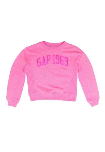 GAP pink Logo Sweatshirt 8A4C2KAE5B9CE2GS_1