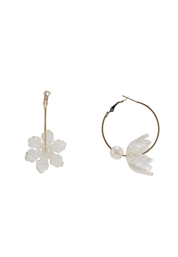 Saturation multi Flowering Hoop Earrings 55D4CAC1AD6DF7GS_1