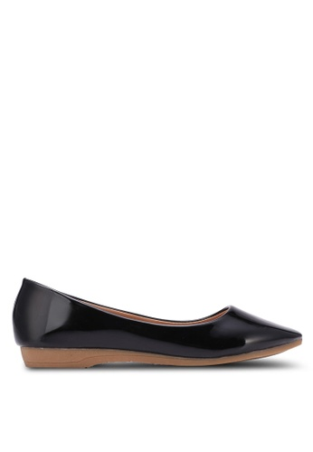 Spiffy black Young and Comfort Series Plain Flats SP352SH0S6E0MY_1