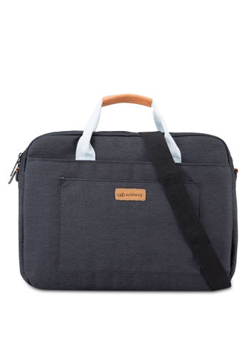 Bagstationz black Premium 2-Way 15.6inch Laptop Bag BA607AC89KVIMY_1