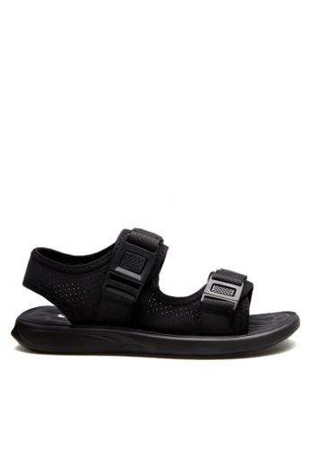 Twenty Eight Shoes 黑色 雙橫帶涼鞋 VMS58019 AFE0DSH8D7849DGS_1