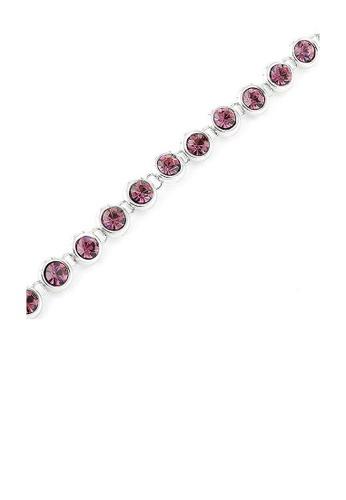 Glamorousky purple Cutie Dots Bracelet with Violet Austrian Element Crystals F34DAAC2E7A6F3GS_1