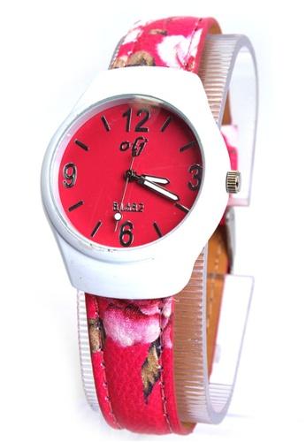 World of Watches pink OLJ Flowie Women's Leather Strap Watch B1682 WO566AC71TZOPH_1