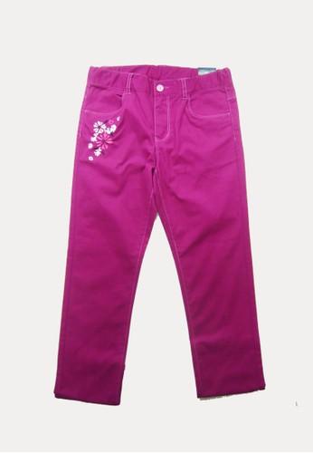 Bossini purple Bossini Kids Girl Long Pants Dk Magenta (94110305032) 55990KA8B5AE95GS_1