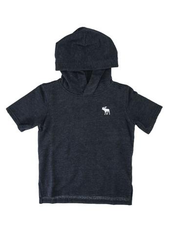 Abercrombie & Fitch navy Short Sleeve Hoodie D4209KAF636B6FGS_1