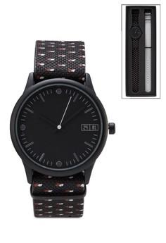 Micro Print Duo Strap Watch Set
