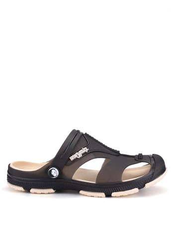 Twenty Eight Shoes black Waterproof Jelly Rain and Beach Sandals VMR1721 22A14SHE7B08B5GS_1