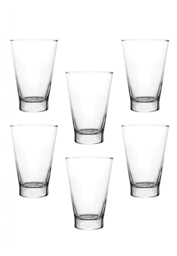 Union Glass n/a Thailand Premium Clear Glass Highball Glass Water, Juice, Soda, Liquor Glass 438ml -15oz Set of 6 EE393HL40937C7GS_1