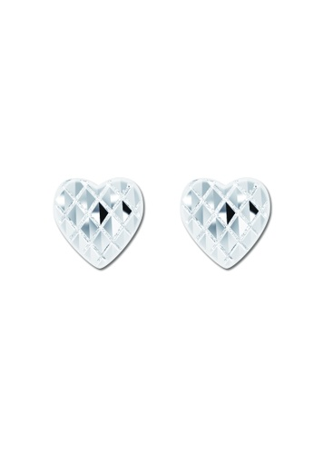 SC Tom Silver silver Heart with diamond Stud Earring SC872AC89VNMPH_1