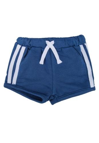 FOX Kids & Baby blue Side Stripes Active Shorts 70513KA19127B3GS_1
