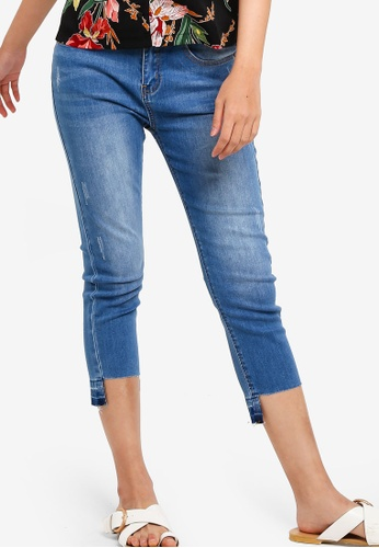 Something Borrowed blue Step Hem Skinny Jeans 802EDAA6B0B257GS_1