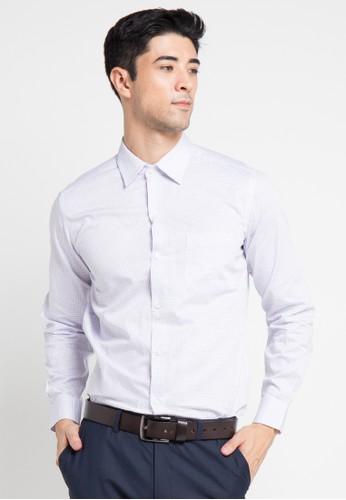 GQ MEN'S WEAR white Modern Fit Long Sleeve Shirt GQ410AA0V5FXID_1