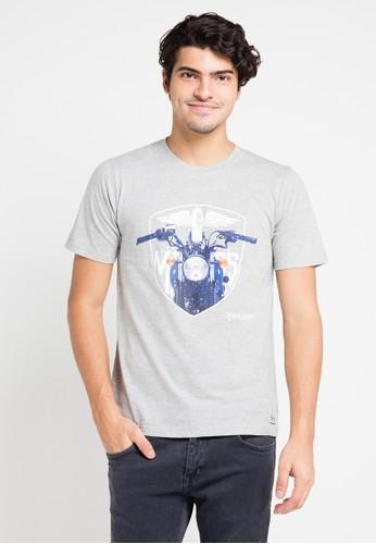 EDWIN grey Edwin Original T-Shirt Ets-008-108 - ED179AA0URIQID_1