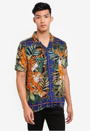 Topman multi Jungle Short Sleeve Shirt D2D16AA8328F5DGS_1