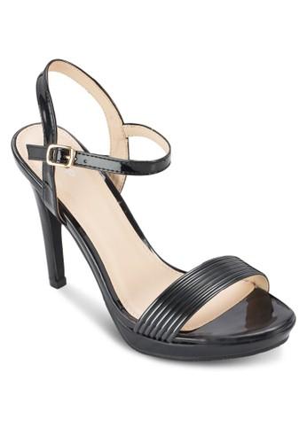 暗紋繞踝高跟鞋, esprit hong kong女鞋, 厚底鞋