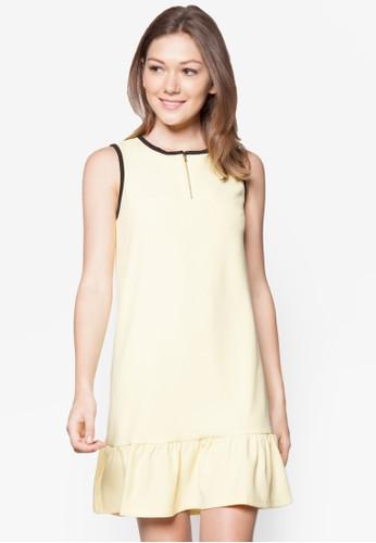 Daphesprit台灣網頁ine 荷葉邊滾邊洋裝, 服飾, 洋裝