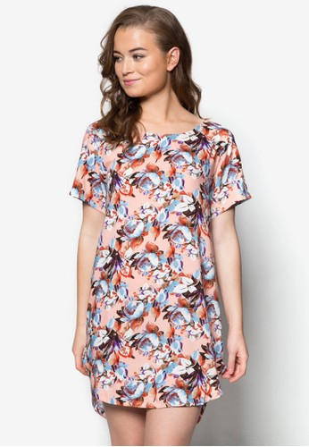 花卉印花棉質連身裙zalora 評價, 服飾, 洋裝
