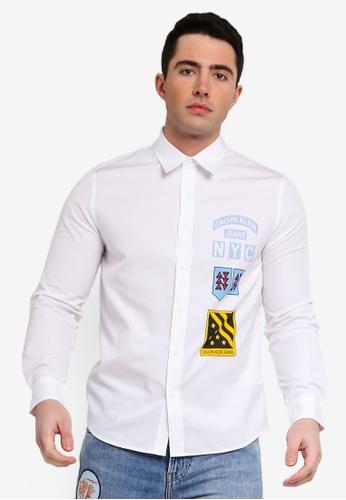 287d2bff Calvin Klein white Boyscout Print Regular Long Sleeve Shirt - Calvin Klein  Jeans 99DAEAA8657714GS_1