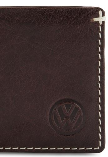 Volkswagen brown Volkswagen Genuine Leather Bi-Fold Wallet VO089AC98EJTMY_1