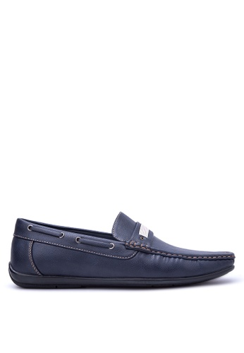 Italianos navy Dennis Loafers IT153SH76OYTPH_1
