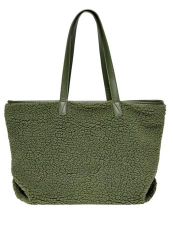 ONLY 綠色 Teddy 購物包 667A9ACC8ACA3AGS_1