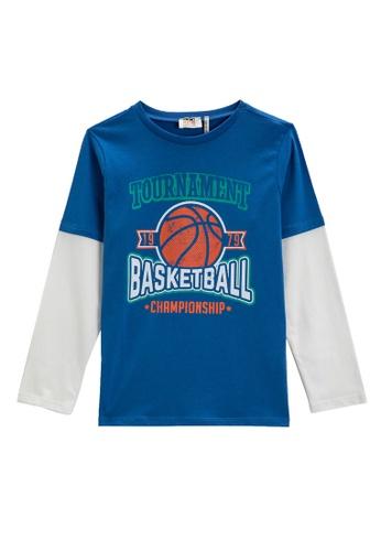 KOTON blue T-Shirt For Boys 4F36FKA7200C07GS_1