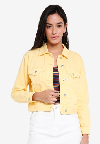 TOPSHOP yellow Fitted Denim Jacket EB67BAA0E13094GS_1