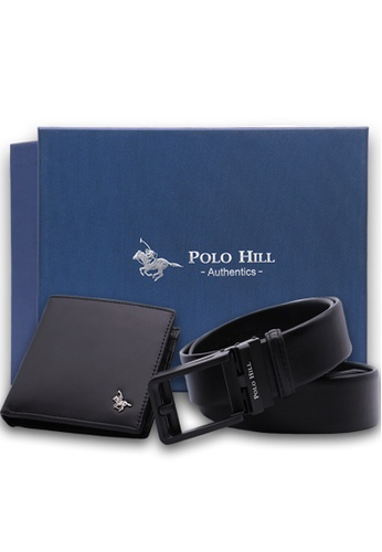 Polo Hill black Polo Hill Men Gift Box Set Genuine Leather RFID Wallet Genuine Leather Fake Pin Automatic Buckle Belt AB4FDACF42425CGS_1