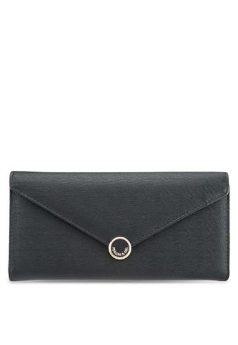Perllini&Mel black Faux Leather Long Wallet E7ACFAC603E235GS_1