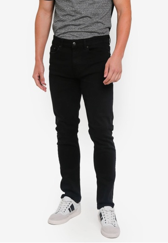 Burton Menswear London 黑色 Used Black Blake Slim Fit Jeans F316AAA4FBCE1DGS_1